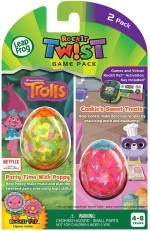 LeapFrog RockIt Twist Duo Game Trolls Party Time & Cookies Treat