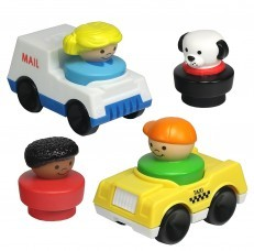 Fisher-Price Little People Mail Taxi & Figures Playset