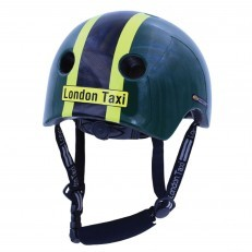 London Taxi Kids Helmets - Line Green/Yellow