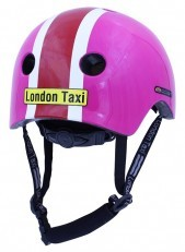 London Taxi Kids Helmets - Line Pink/Red