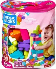 Mega Bloks First Builders Big Building Bag 80pcs pink