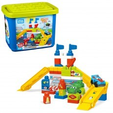 Mega Bloks First Builders Race Car Garage