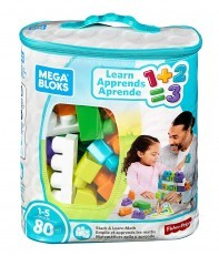 Mega Bloks Stack & Learn Math Building Set