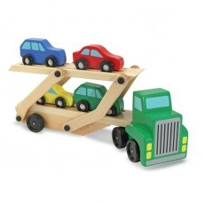 Melissa & Doug Wooden Car Carrier Truck with cars