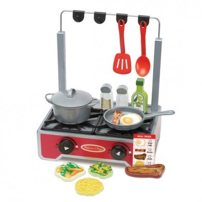 Melissa & Doug Deluxe Wooden Cooktop Playset