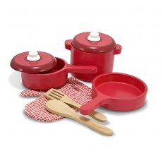 Melissa & Doug Deluxe Wooden Pot & Pan Set