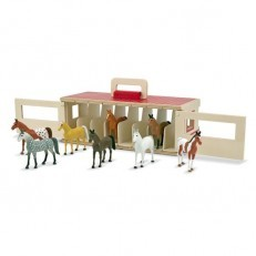 Melissa & Doug Take Along Show Horse Stable Play Set