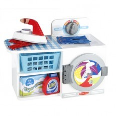 Melissa & Doug Wash, Dry and Iron Laundry Play Set