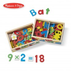 Melissa & Doug Wooden Magnetic Letters & Numbers Bundle