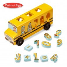 Melissa & Doug Wooden Number Matching Math Bus
