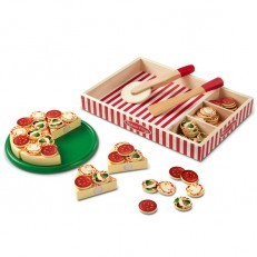 Melissa & Doug Pizza Party Wooden Play Food Set