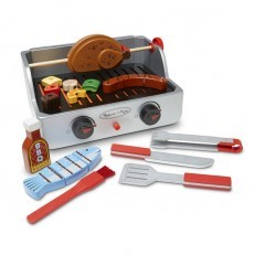 Melissa & Doug Rotisserie & Grill Wooden Barbecue Play Food Set