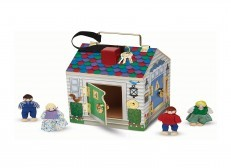 Melissa & Doug Take Along Wooden Doorbell Dollhouse