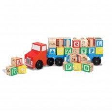 Melissa & Doug Wooden Alphabet Truck Blocks