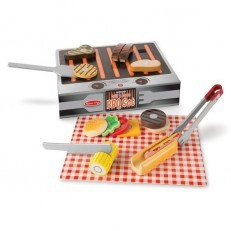 Melissa & Doug Wooden Grill and Serve BBQ Set