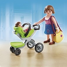 Playmobil Mother with Infant Stroller