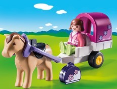 Playmobil 1.2.3 Horse Drawn Carriage 9390