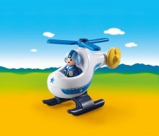 Playmobil 1.2.3 Police Copter 9383