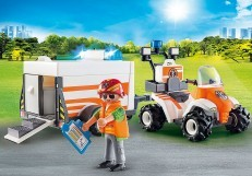 Playmobil Rescue Quad with Trailer 70053