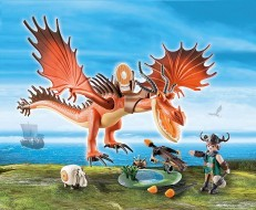 Playmobil Dreamworks Dragons Snotlout with Hookfang 9459