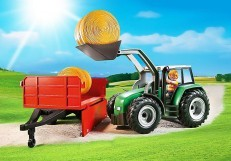 Playmobil Large Tractor with Trailor 6130