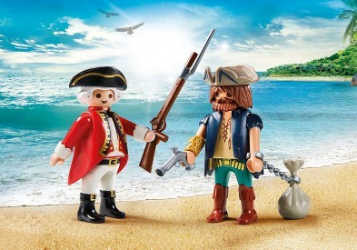 Playmobil Pirate and Soldier Duo Pack 9446