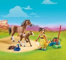 Playmobil Spirit Pru with Horse and Foul 70122