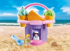 Playmobil SAND Ice Cream Shop Sand Bucket 9406 + Playsand 5kg