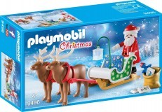 Playmobil Santas Sleigh with Reindeer 9496