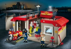 Playmobil Take Along Fire Station Playset 5663