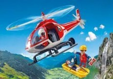 Playmobil Action Mountain Rescue Helicopter 9127