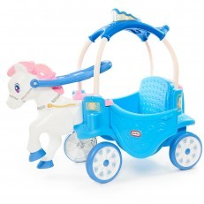 Little Tikes Princess Horse & Carriage - Frosty Blue ride on