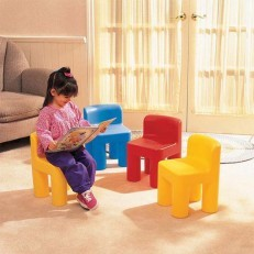 Little Tikes Rainbow Chairs (Blue/Red/Yellow)