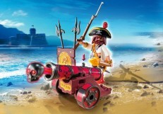 Playmobil Red Interactive Cannon with Buccaneer