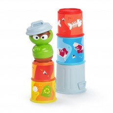 Sesame Street Oscar the Grouchs Stacking Cans Stackable Cups