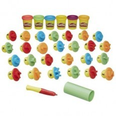 Play Doh Shape and Learn Letters and Language