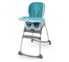 The Ingenuity Trio 3-in-1 SmartClean High Chair - Aqua