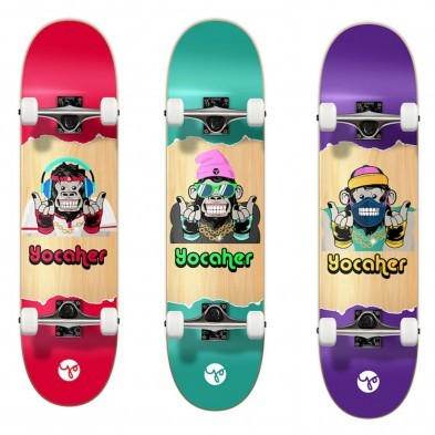 Yocaher 7.5 Skateboard - No Evil Chimp series