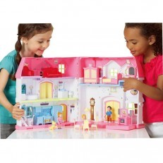 You & Me Happy Family Manor Take Along Foldable Dollhouse