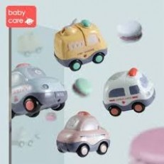Babycare Music & Lights Cartoon Cars (4pcs)