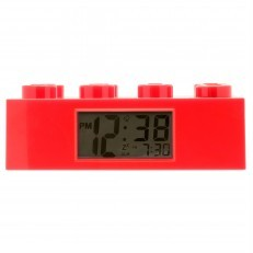 LEGO Brick Clock Red