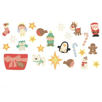 Fun to See Christmas Advent Stickers