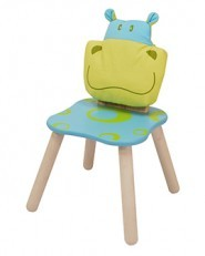 I'M Toy Wooden Geo Forest Chair - Hippo