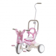iimo x Macaron Foldable Tricycle Trike (Sugar Pink)