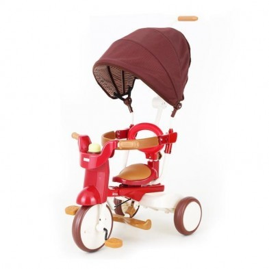 iimo Foldable Tricycle SS#02 Eternity Red Sun Shade