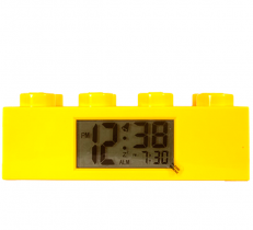 LEGO Brick Clock Yellow