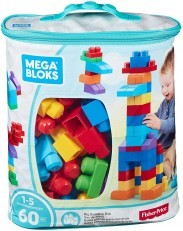 Mega Bloks First Builders Big Building Bag 60 Pcs (blue/pink)