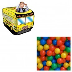 School Bus Play Tent Ball House + FREE 50pcs Balls