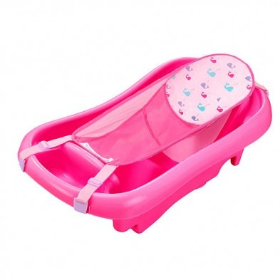 Deluxe Newborn To Toddler Tub (Pink) baby bath tub w/sling