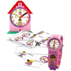 LEGO Girls Time Teacher Clock + Watch